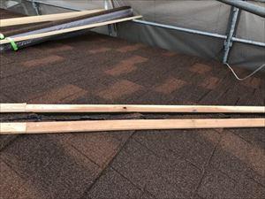 屋根 カバー工法 屋根材 棟下地取付