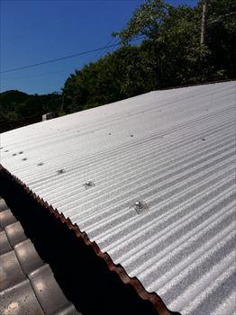 トタン屋根 カバー工法 完成