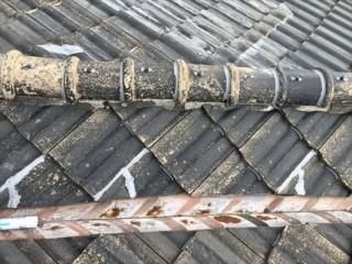 セメント瓦 割れ補修