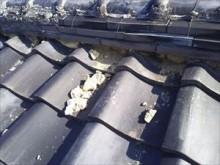 屋根 漆喰の剥がれ
