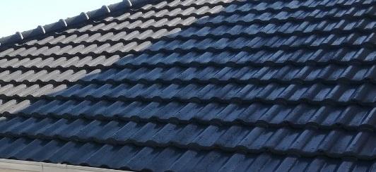 屋根塗装 セメント瓦 完工写真