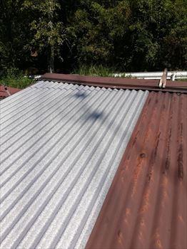 トタン屋根 ガルバリウム重ね張り