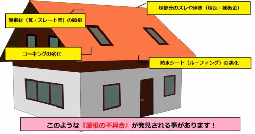 雨漏り 屋根 不具合箇所