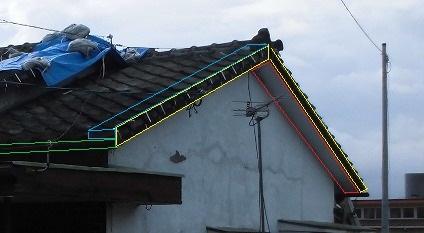 破風板、ケラバ、軒天