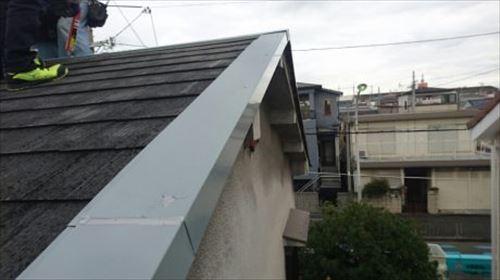 屋根金物 ケラバ・棟押さえ取付完了
