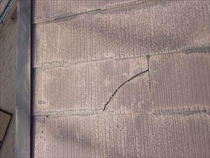 屋根補修サイン 屋根ひび割れ ズレ