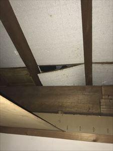 天井裏 雨漏れ箇所①