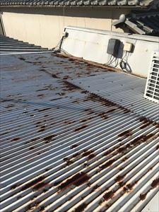 現地調査 屋根材 錆