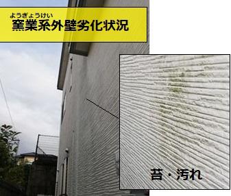 窯業系サイディング外壁 苔 汚れ