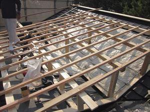 屋根下地施工状況