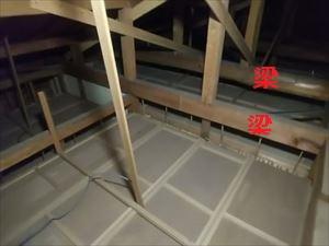 現地調査 屋根裏の状況