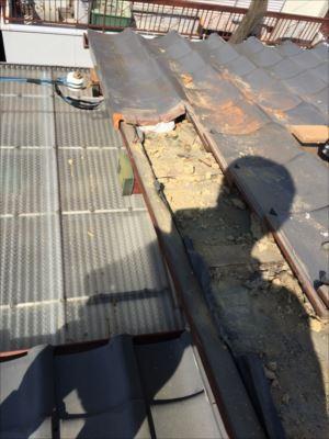 ケラバ瓦 葺き替え工事