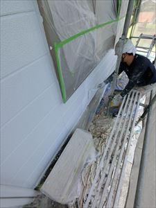 外壁塗装 上塗り①