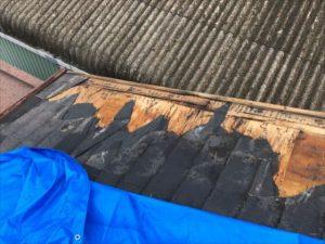 防水シートの破損