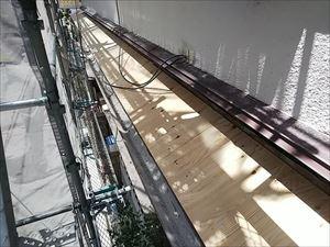 屋根下地 構造用合板張り付け