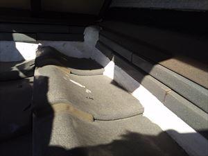 屋根 漆喰 塗り過ぎ箇所③