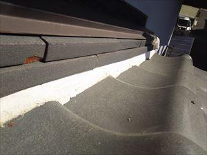 屋根 漆喰 塗り過ぎ箇所②