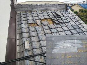屋根材破損 瓦飛散 スレート割れ