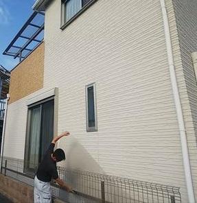 ベランダ屋根 平板飛散
