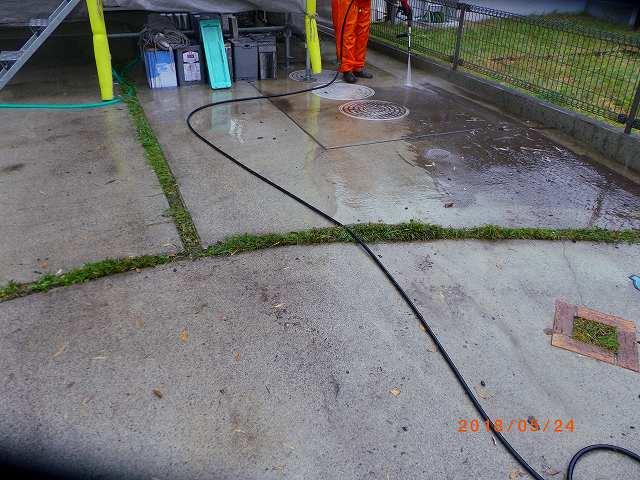 駐車場土間高圧洗浄