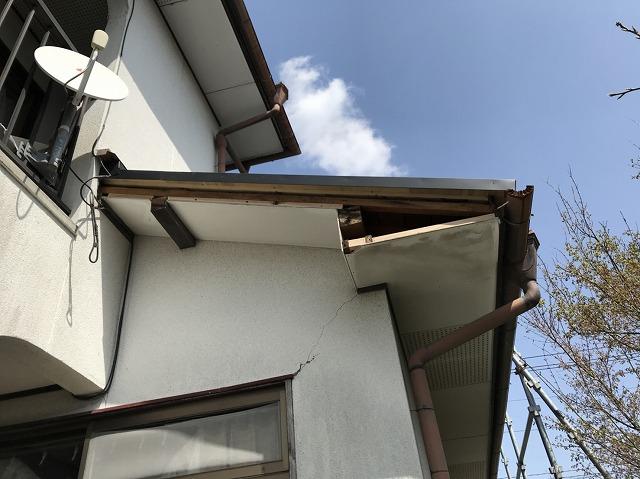 大津破風板補修全景20180324