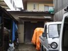 納屋屋根破損