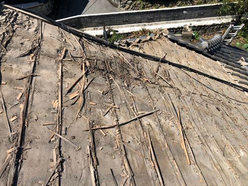 屋根下地補修工事 下地の状況