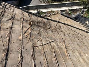 桟木 劣化 屋根下地補修工事