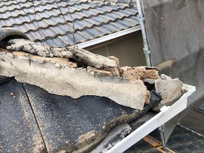 セメント瓦 棟 崩壊