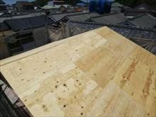 野地板 構造用合板貼り