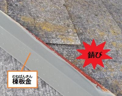棟板金 錆び 塗膜劣化