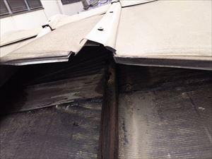 銅板屋根 破損状態③