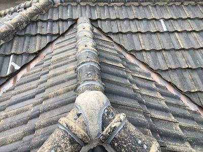 雨漏り 漆喰劣化 棟 工事後