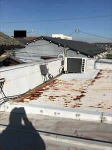 現地調査 屋根 水下
