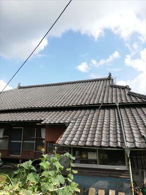 大津町にて瓦屋根下地の劣化で雨漏りが起り屋根補修工事を行った