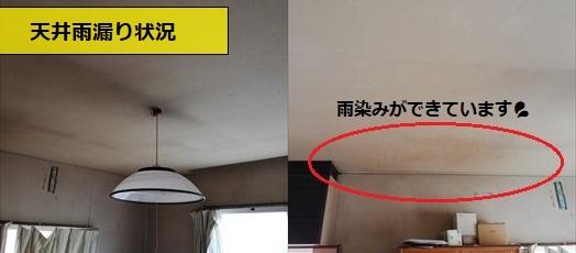 セメント瓦 雨漏り シミ 天井クロス