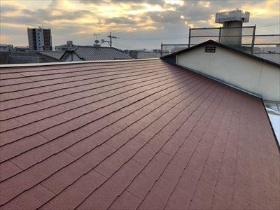 屋根葺き替え工事 コロニアル 工事後
