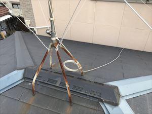 現地調査 大屋根 棟 アンテナ