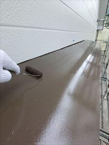 外壁塗装 庇 鉄部分