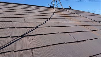 スレート屋根 塗装メンテナンス 工事前