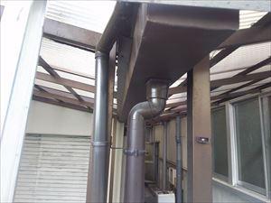屋根 樋の状態