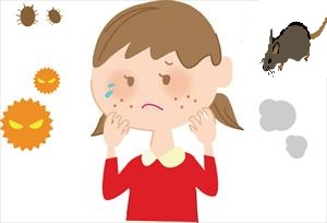 雨漏り被害 アレルギー症状