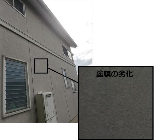 外壁 塗膜の劣化 色褪せ