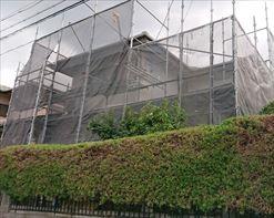 塗装工事 足場設置