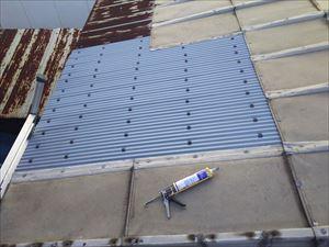 鋼板屋根 波板張替完了