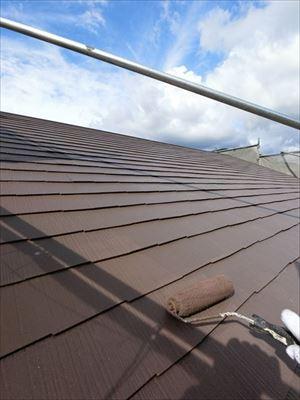 屋根塗装 上塗り状況