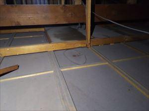 雨漏れ箇所 天井裏の様子②