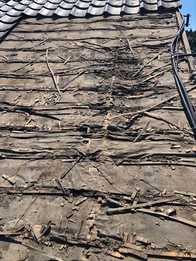 瓦屋根下地 劣化 工事前