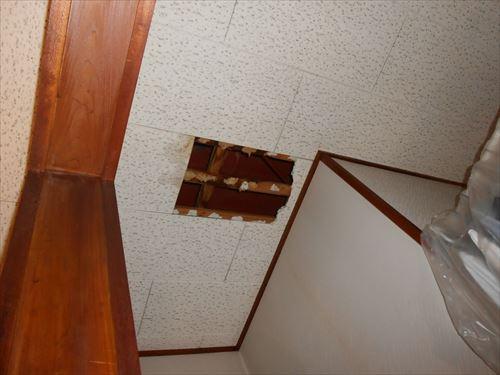 天井 雨漏れ状況①