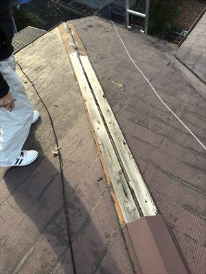 大屋根 棟板金飛散